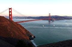 guld- solnedgång för port royaltyfri fotografi