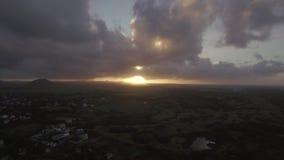 Guld- solnedgång i Mauritius arkivfilmer