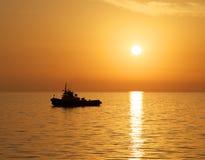 Guld- solnedgångfärger. Royaltyfria Foton