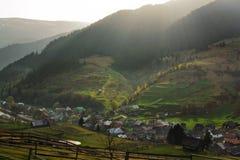 Guld- solsken av Carpathian Royaltyfri Bild