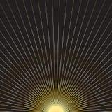 Guld- solstrålar Royaltyfri Bild