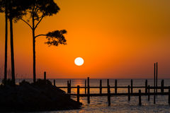 Guld- soluppgång över Shalimar Royaltyfri Bild