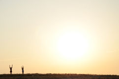 Guld- soluppgång Arkivbilder