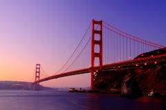 guld- soluppgång för port Royaltyfri Foto