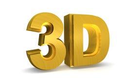 guld som 3d skiner Arkivbilder