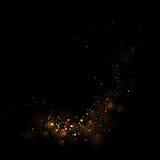 Guld som blänker stjärnaljus och bokeh Magisk dammabstrakt begreppbackgro royaltyfri illustrationer