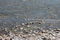 Guld som panorerar i den Ticino floden Royaltyfria Foton