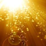 Guld- sparkling bakgrund Royaltyfri Foto