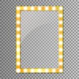 Guld- spegel som isoleras på genomskinlig bakgrund också vektor för coreldrawillustration royaltyfri illustrationer