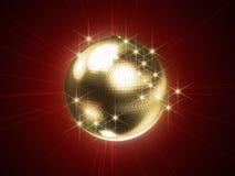 guld- sphere för disko royaltyfri illustrationer