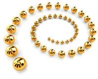guld- spiral Arkivfoto