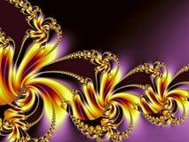 guld- spiral för färgrik design Arkivbild