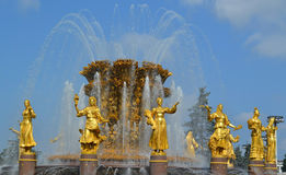 Guld- springbrunn Royaltyfri Fotografi