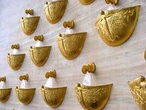 guld- springbrunnar Royaltyfri Foto