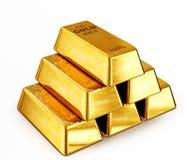 Guld- stänger Arkivfoton