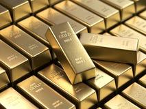 Guld- stänger och finansiellt begrepp stock illustrationer