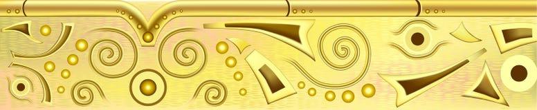 guld- stång Royaltyfri Fotografi