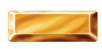 Guld- stång Royaltyfri Bild
