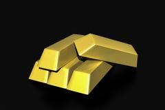 guld- stång 3d Royaltyfria Foton