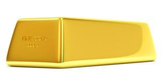 Guld- stång på vit bakgrund Fotografering för Bildbyråer