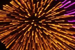 guld- starburst Arkivfoto