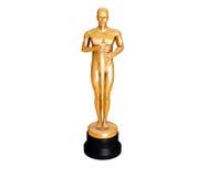 guld- statuette Fotografering för Bildbyråer