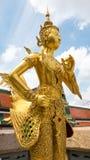 guld- staty för ängel Fotografering för Bildbyråer