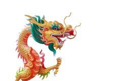 guld- staty för kinesisk drake Arkivfoto
