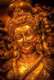 Guld- statyer Arkivbild
