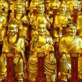Guld- statyer av Lohansen Royaltyfria Foton