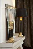 Guld- stearinljushållare Royaltyfria Bilder