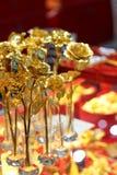 guld- steg arkivfoto