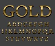 Guld- stilsort vektor illustrationer