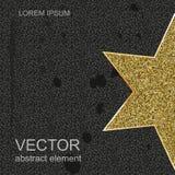 Guld- stjärna som isoleras på en svart bakgrund Vektor för din design Fotografering för Bildbyråer
