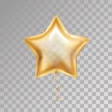 Guld- stjärnaballong vektor illustrationer