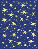Guld- stjärnanatt Fotografering för Bildbyråer