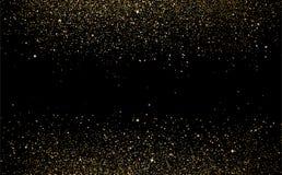 Guld- stjärnaprickar sprider texturkonfettier i galax- och utrymmeabs royaltyfri illustrationer
