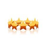 Guld- stjärnavektor Royaltyfri Foto