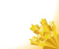 guld- stjärnor Arkivbild