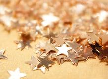 Guld- stjärnor Fotografering för Bildbyråer