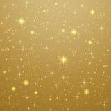 guld- stjärnor för bakgrund Arkivbild