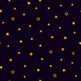 Guld- stjärnor på en purpurfärgad bakgrund seamless modell royaltyfri illustrationer