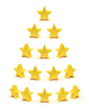 Guld- stjärnor som raiting samlingen royaltyfri illustrationer