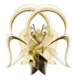 guld- stor bow Arkivbild