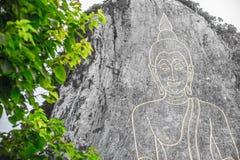 Guld- stor Buddha på berget Fotografering för Bildbyråer