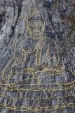 Guld- stor Buddha på den bergKhao chien Chan, Pattaya, Thailand Arkivfoto