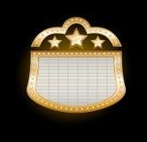 guld- stort festtältteater Arkivbild