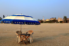 Guld- strand i den Beihei staden, Guangxi, Kina Fotografering för Bildbyråer