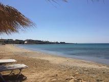 Guld- strand Paros Arkivfoton
