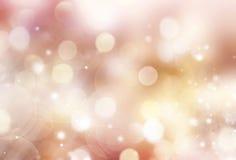 Guld- suddig bakgrund för Xmas-ferie stock illustrationer